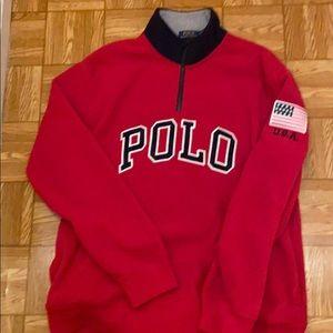 Polo Fleece pullover with pockets